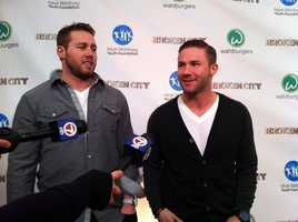 Injured Patriots players Dane Fletcher and Julian Edelman