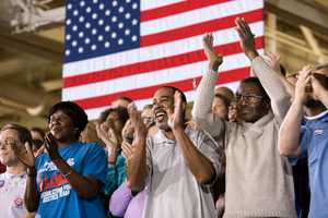Audience members applaud during President Barack Obama's remarks at the Daimler Detroit Diesel Facility in Redford, Mich., Dec. 10, 2012.