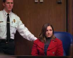 Woodward sits at her bail reduction hearing in Middlesex Superior Court in Cambridge, Mass., Friday, Feb. 7, 1997.