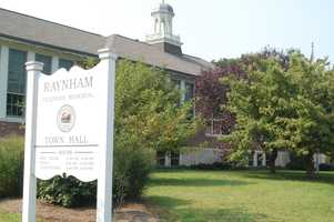 73.) Raynham Center -- 33.3 percent have never been married.