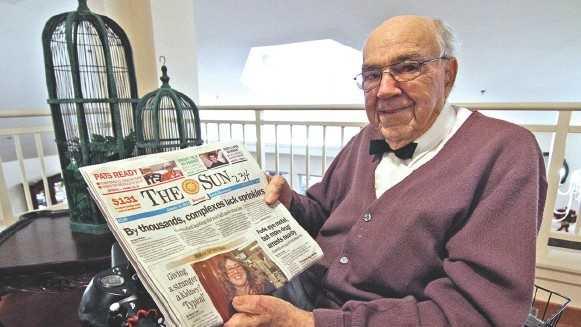John Harrington 93 year old newsboy