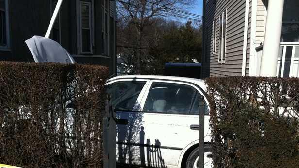 Car hits house Mattapan