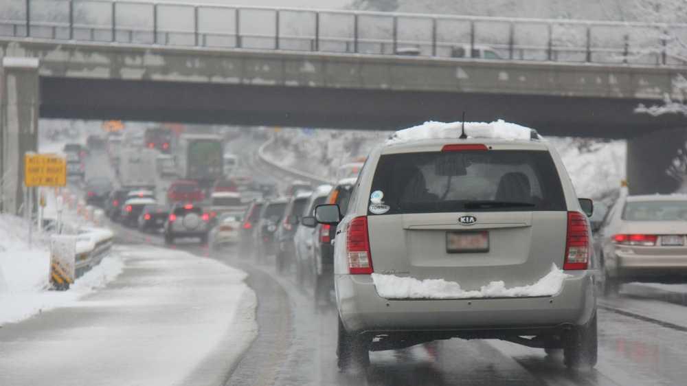 I-95 Dedham snow, traffic