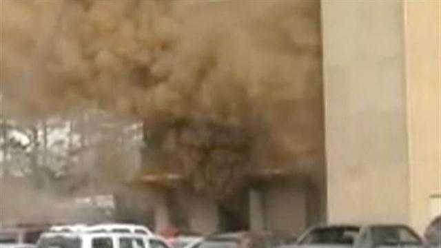 Bank offices evacuated after explosion