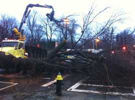 Crews work to remove the debris.