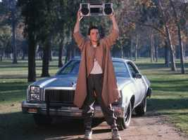"""The scene in """"Say Anything,"""" when John Cusack puts the boombox over his head."""