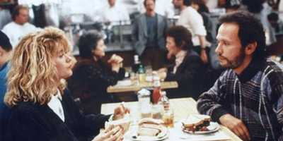"""The scene in """"When Harry Met Sally"""" at the deli when Sally shows how women fake it."""