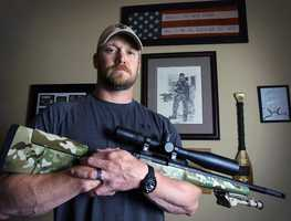 """Chris Kyle, a decorated veteran, wrote the best-selling book, """"American Sniper: The Autobiography of the Most Lethal Sniper in U.S. Military History,"""" detailing his 150-plus kills of insurgents from 1999 to 2009. Kyle said in his book that Iraqi insurgents had put a bounty on his head.Kyle's nonprofit, FITCO Cares, provided at-home fitness equipment for emotionally and physically wounded veterans.(1974 – February 2, 2013)"""