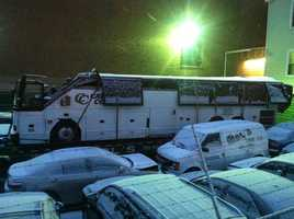 The bus a day later at an area tow yard.