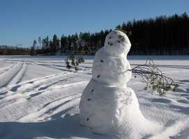 Exercise helps boost your immune system. Try building a snowman with your kids.
