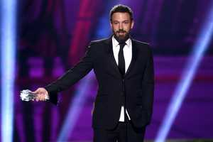 """""""I would like to thank the Academy. I'm kidding, I'm kidding. This is the one that counts. No, I do want to thank the Broadcast Film Critics Association. It is very, very cool for me,"""" Ben Affleck joked about his omission in the Oscars as he accepted the Critics' Choice Award for Best Director on Jan. 10."""