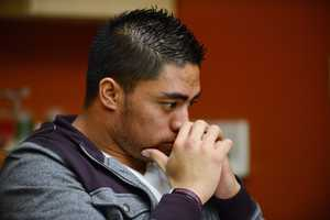 """""""I developed an emotional relationship with a woman I met online,"""" said Notre Dame linebacker Manti Te'o."""