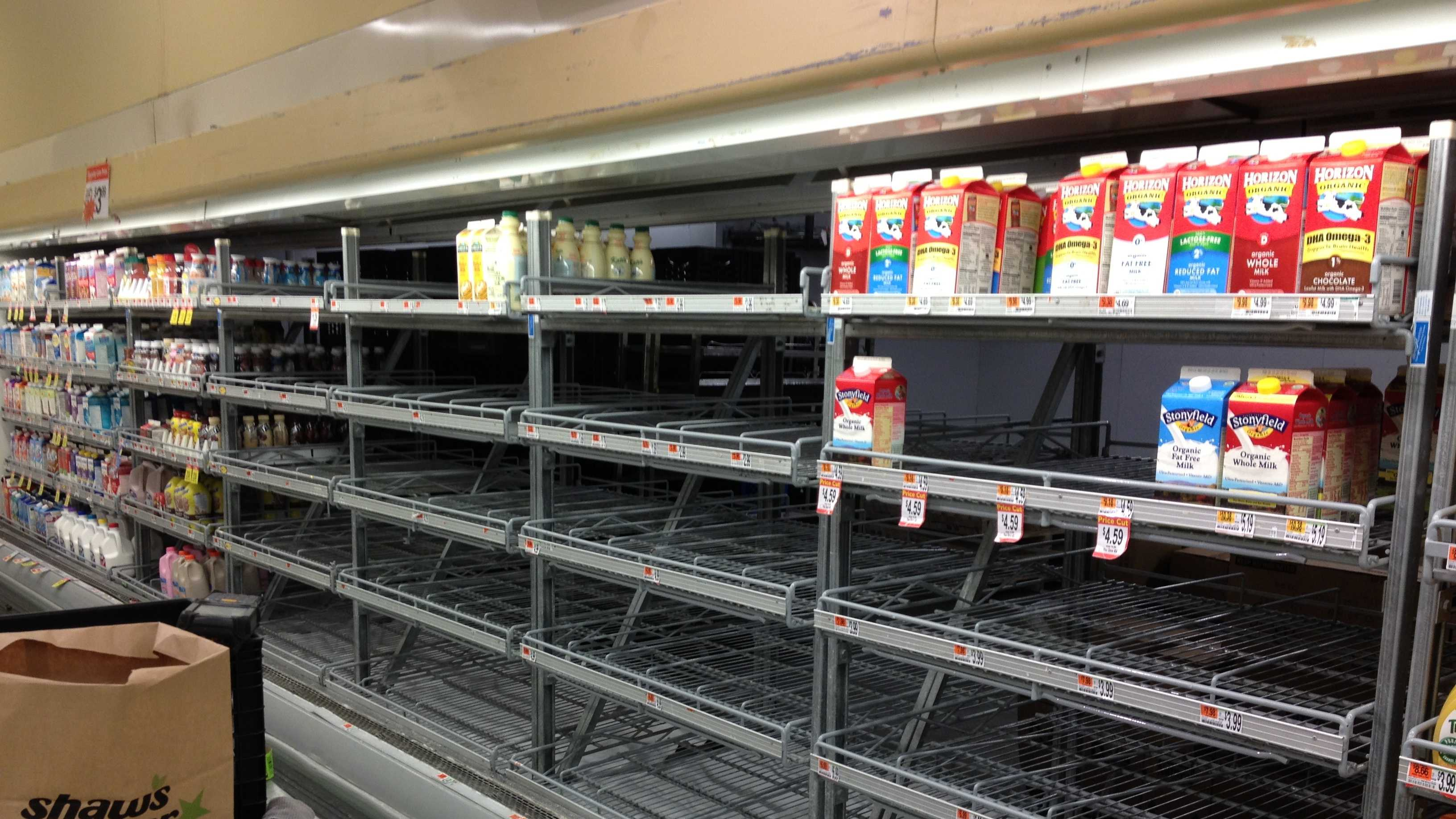 no milk at store