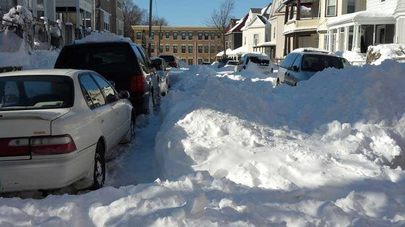 Unplowed Dorchester street