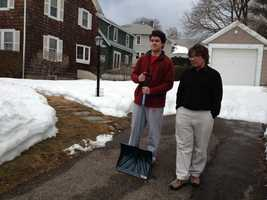 Dylan Pereira was shoveling snow with his father, Joseph, outside of their Penn's Hill home Saturday morning when the 16-year-old thought to check on his neighbor. The city lost electricity Friday night.