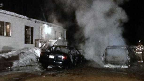 NU Lebanon Maine SUV Fire