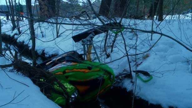 NH snowmobile crash