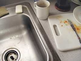 2. Your sink: Germs like salmonella can live in your sink after you wash the food that contains it. Touching anything after touching the sink spreads the risk.