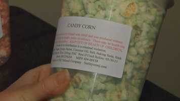 They also sell a variety of snacks and foods infused with cannabis. This popcorn is infused with medical marijuana.