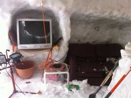 His childhood dream of becoming an architect led him to try his hand at igloo design.