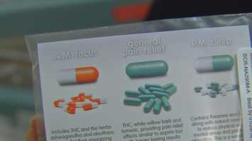 The company has three types of formulas they have developed for customers. The pills can be found in dispensaries across the Denver area.