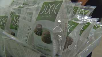 "The company says its ""Medicated Chocolate Truffles"" are one of its most popular products. ""We sell thousands of these in a week."""