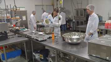 This is a look inside the manufacturing plant of Dixie Elixirs & Edibles, one of the newest brands that makes marijuana-infused products.