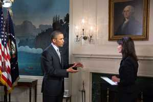 Liz was one of a handful of reporters from around the country who were invited to the White House to interview President Obama.