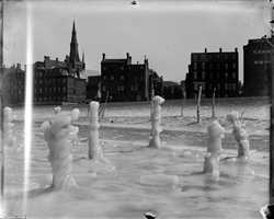 The month also featured extreme cold. This photo was taken along the Charles River in Boston.