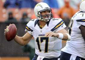 5. Philip Rivers - San Diego Chargers Quarterback - $12,000,000