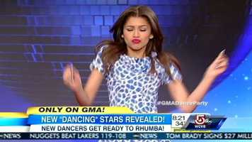 """Teen actress and singer, Zendaya Coleman, stars as Raquel """"Rocky"""" Blue in the Disney Channel series Shake It Up!and is currently recording her debut album on Hollywood Records.She is teamed up with Val Chmerkovskiy."""