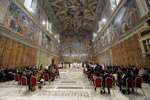 The Sistine Chapel is 134 feet long by 44 feet wide—the dimensions of the Temple of Solomon, as given in the Old Testament.