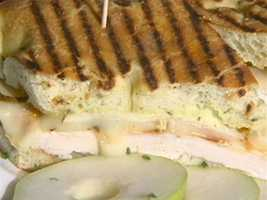 Simoneau's favorite dish is the chicken and pear panini.