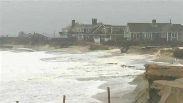 Storm pounds Sandwich beaches