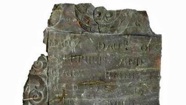 1713 stolen tombstone