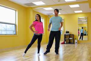 Professional dancer Mark Ballas works on Aly Raisman's form in this rehearsal pic from Dancing With The Stars.