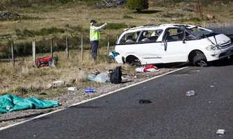 Boston University students - 16 of them in two minivans - had been headed to Tongariro Alpine Crossing in New Zealand, when one went off the road and crashed on May 12, 2012.