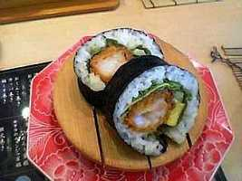 A typical sushi roll contains 290 to 350 calories and has the carbohydrate equivalent of two-and-a-half to four slices of bread.