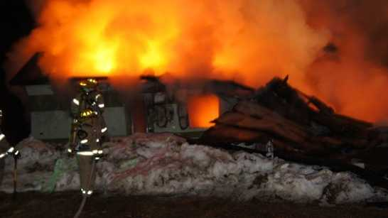 Buckfield Maine Mobile Home Fire