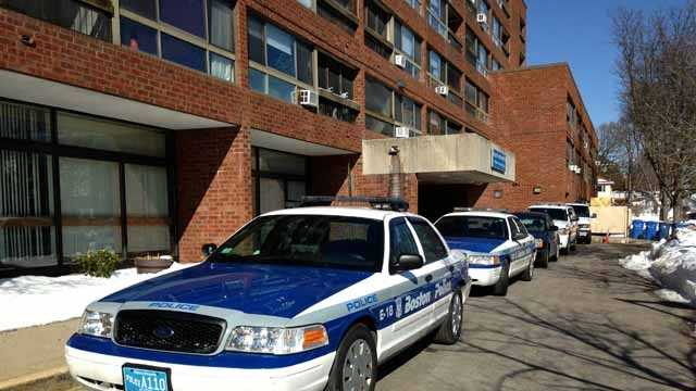 Boston police cruiser