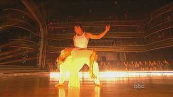 """Len said he wasn't convinced about the performance. """"Kym, your feet were in the air more than they were on the floor!"""""""
