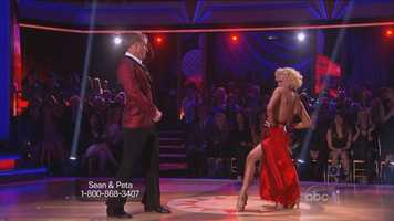 """Up next, Bachelor Sean Lowe & Peta Murgatroyd performing the Foxtrot to """"The Power of Love"""" by Huey Lewis and the News"""