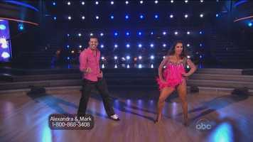 "Olympic gymnast Alexandra Raisman & Mark Ballas dance the Cha-Cha-Cha to ""Live Like We're Young"" by One Direction"