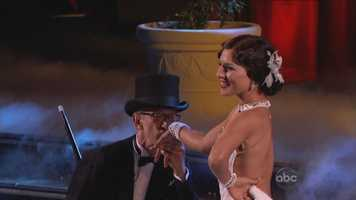 """Andy Dick & Sharna Burgess dance the Foxtrot to """"Witchcraft"""" by Frank Sinatra"""