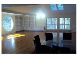 The house has 14,000 square feet of living space.