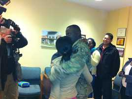 After returning from a nine-month tour of Afghanistan, he surprised his 4 kids at their schools.