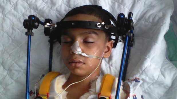 Luis in hospital