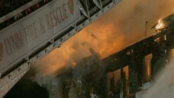 Several residents were forced to use fire escapes to get out of the burning building.