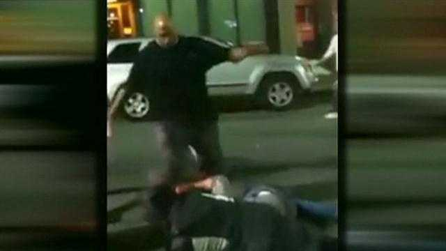 Bouncer accused of kicking, punching clubgoers in brawl