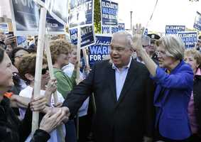 In 2012, Menino played a crucial role in helping elect U.S. Sen. Elizabeth Warren, campaigning with her at stops across the city.